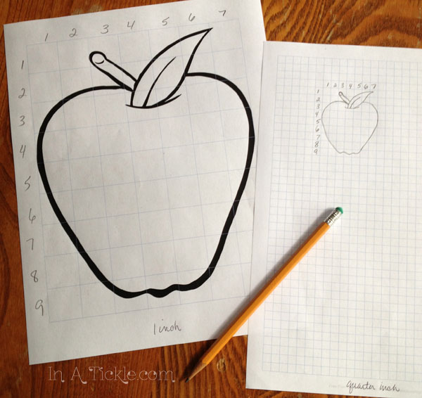 Apple reduction grid drawing