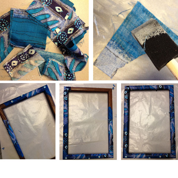 Blue frame covered in fabric