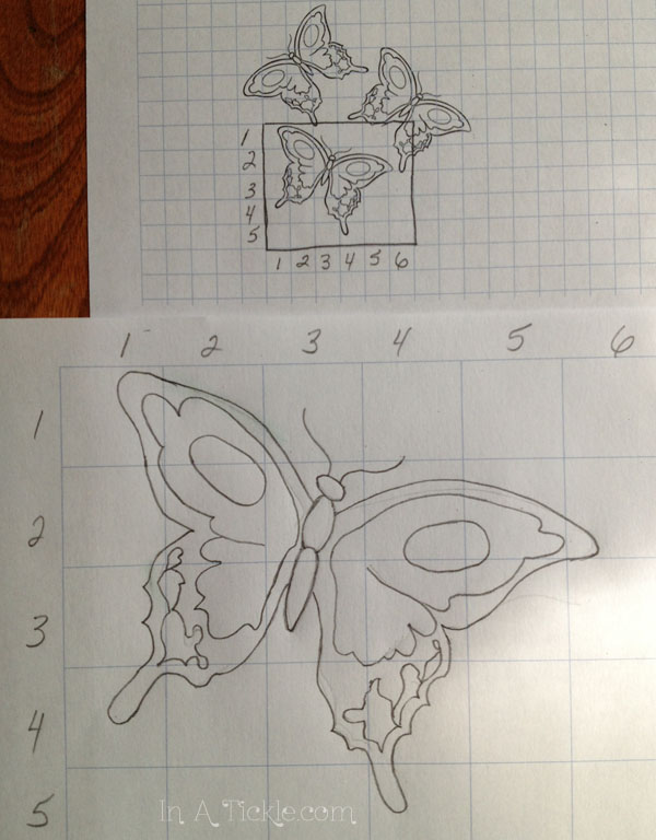 Finished Butterfly grid enlargement