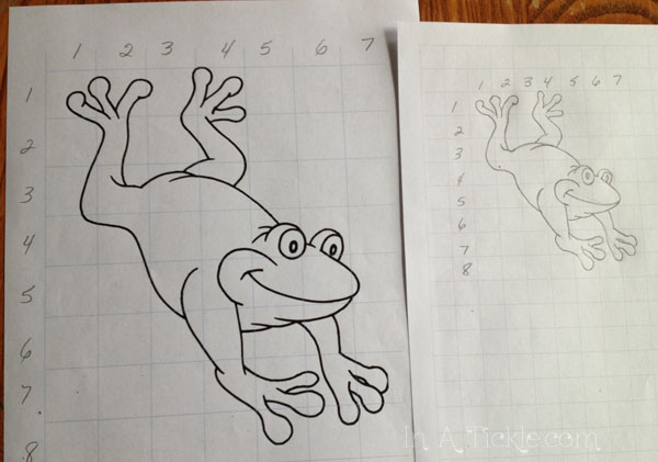 Grid Drawing: Draw With Me Wednesday | In A Tickle