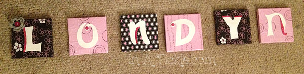 Name Letter Plaques
