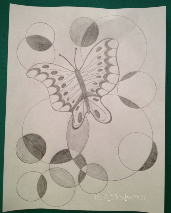 Butterfly and circles design