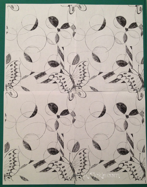 Butterflies and Circle repeating Pattern Design