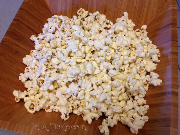 Popcorn cooked in coconut oil