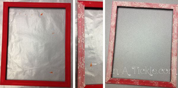 Red frame with lace