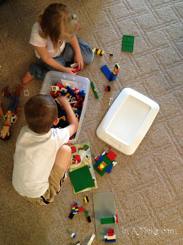 Kids playing Legos