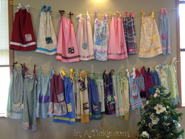 Pillowcase dresses for Africa