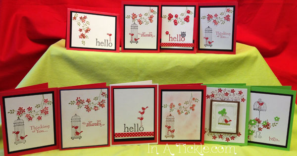 Red Birds Cards
