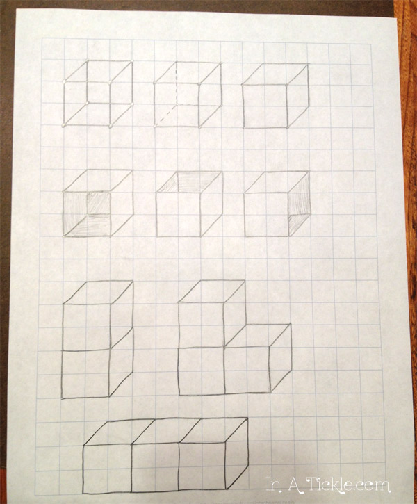 Drawing 3D Cubes: Draw With Me Wednesday | In A Tickle