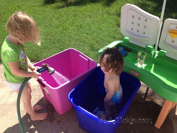 Storage container swimming pools