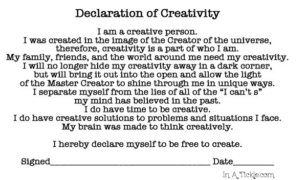 Declaration of Creativity