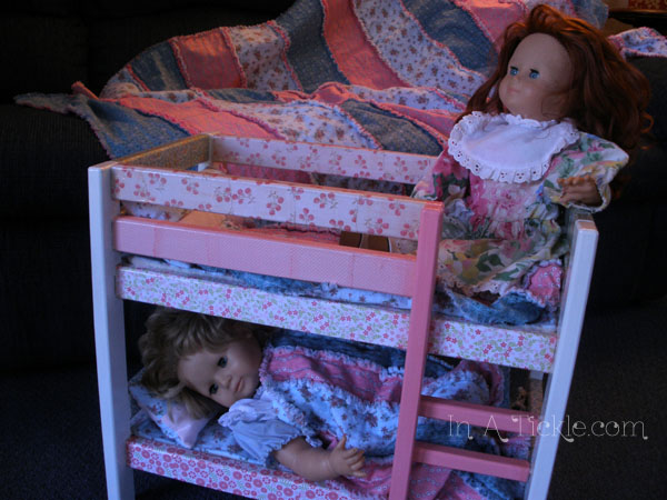 Dolls in bunk bed