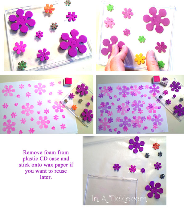Foam flower stamp