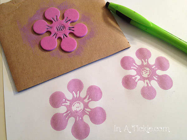 Flower Foam Stamp