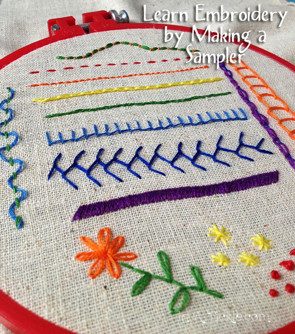 Learn embroidery by making a sampler