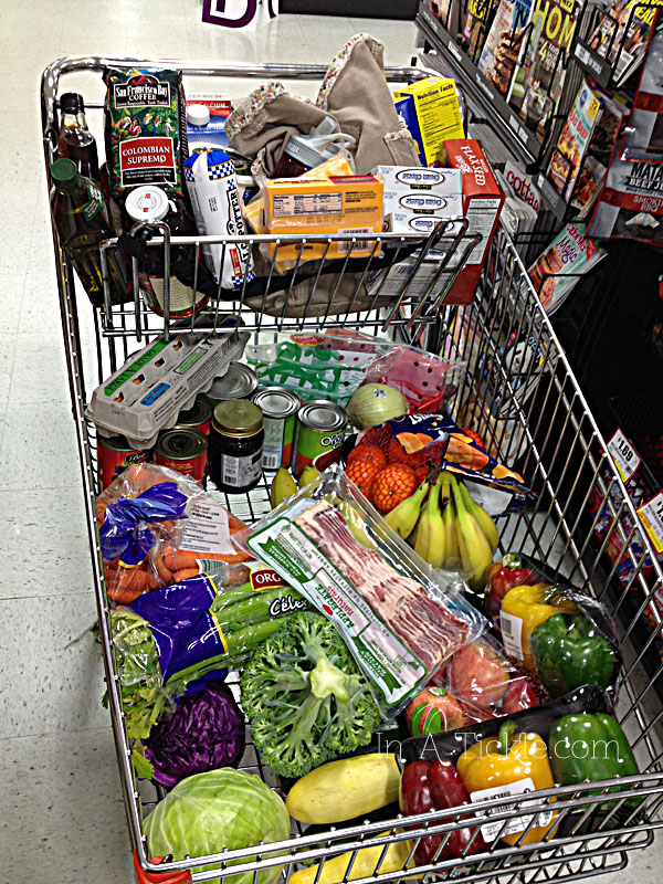 Shopping Cart with Real Food