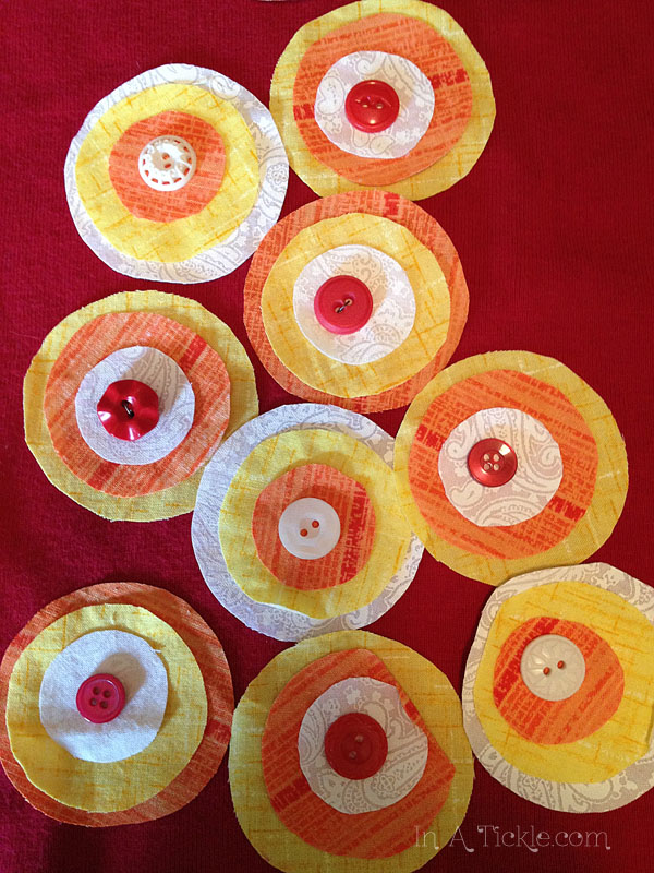 Circle Flowers and buttons