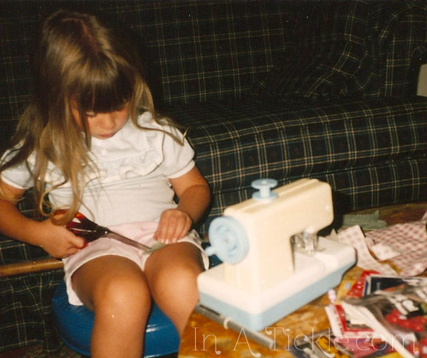 Sewing at 4 years old
