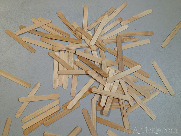 Pile of popsicle sticks