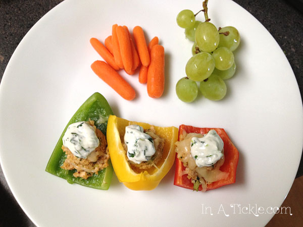 Stoplight Bell Pepper Nachos