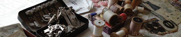 Antique sewing supplies
