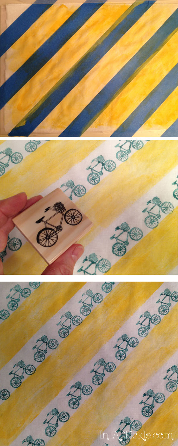 Bicycle stamped fabric