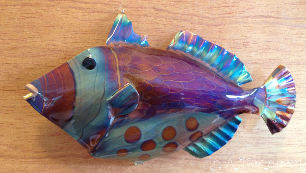 Flame Painted Copper Fish