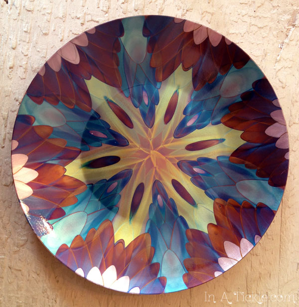 Flame Painted Copper Plate