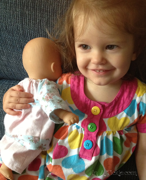 Miss Tickles with baby doll