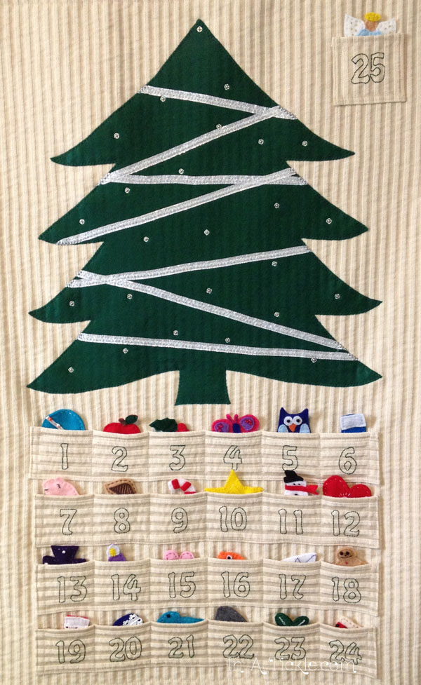 Christmas Advent Calendar Pattern- InATickle.com