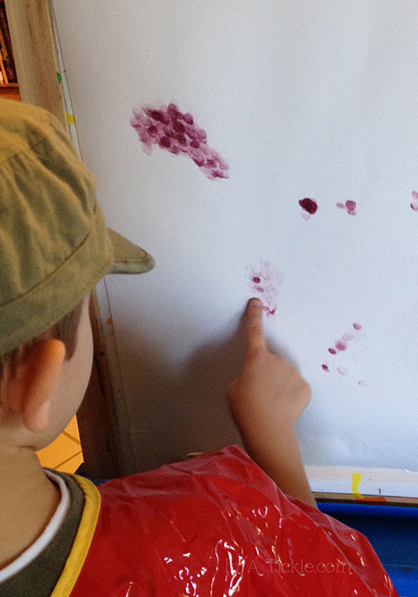 Finger Painting with Ink