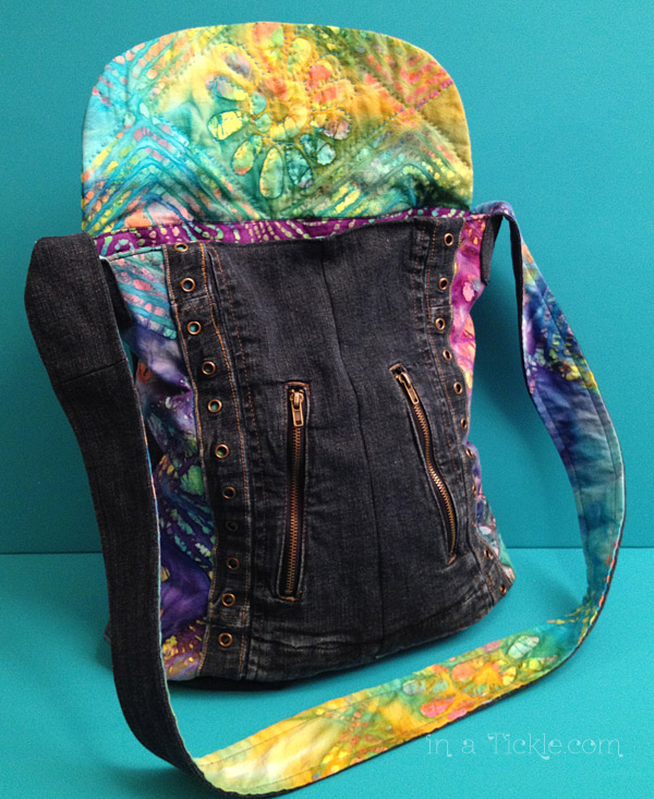 Jacket transformed to purse