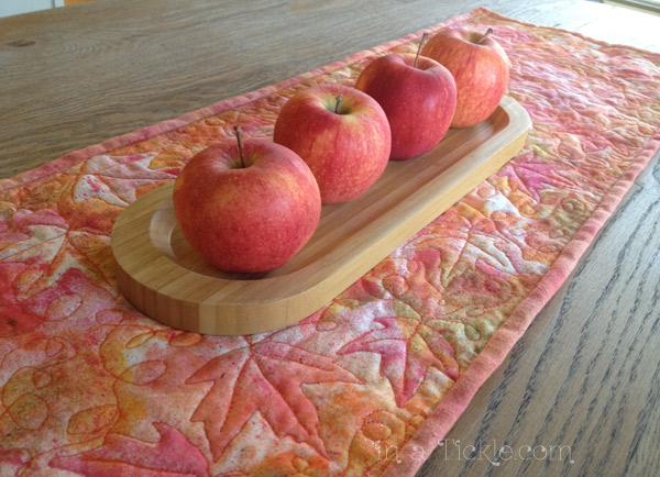Fall Table Runner with Apples