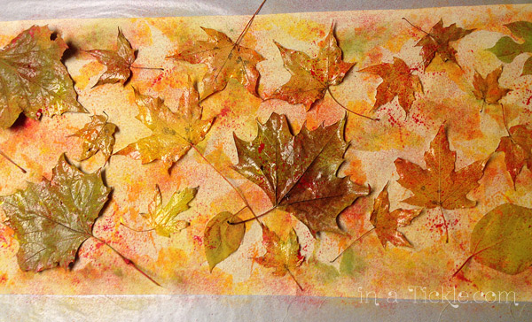Spray-painted-leaf-stencils