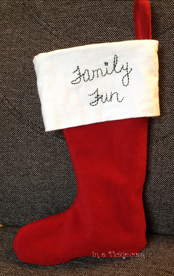 Family Fun Stocking