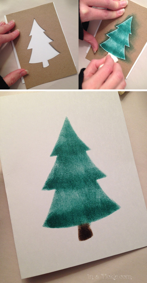 Ink Stenciled Tree