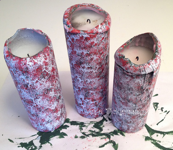 Painted Christmas Candles