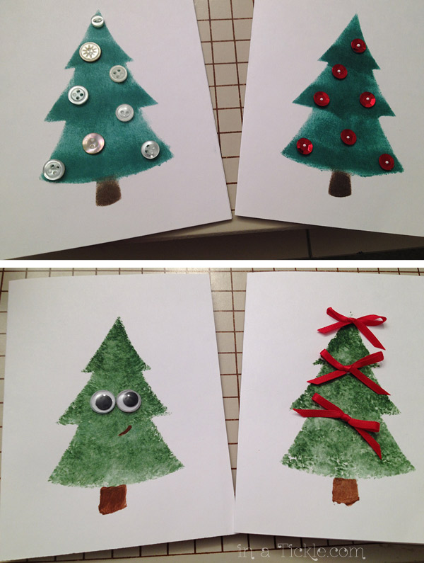 Stenciled Tree Decorations