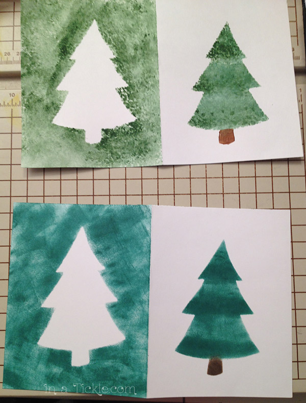 Stenciled Trees