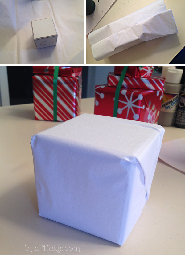 Tissue wrapped blocks