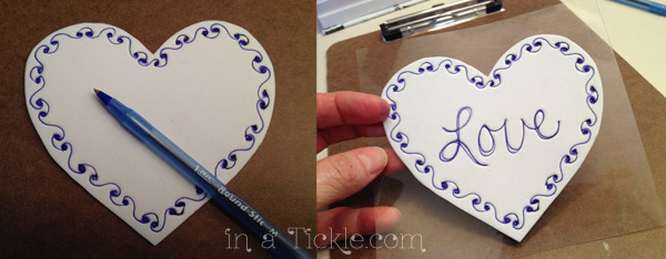 Craft foam heart stamp