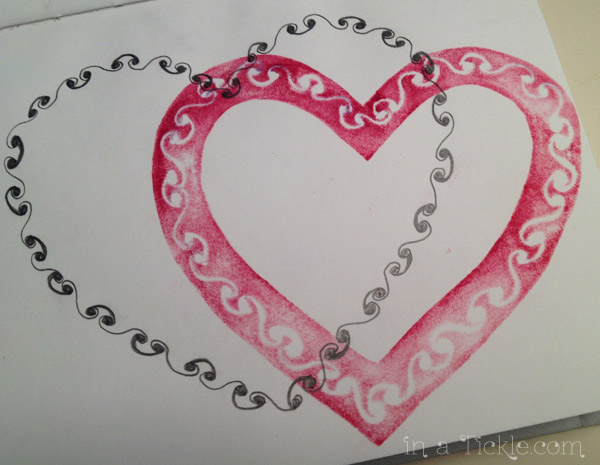Cut Out Heart Stamped