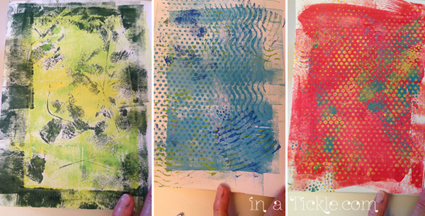 Journal Pages Gelli Print