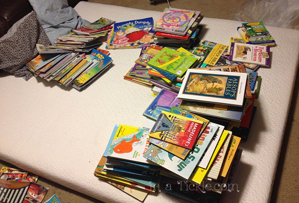 pile of kids books
