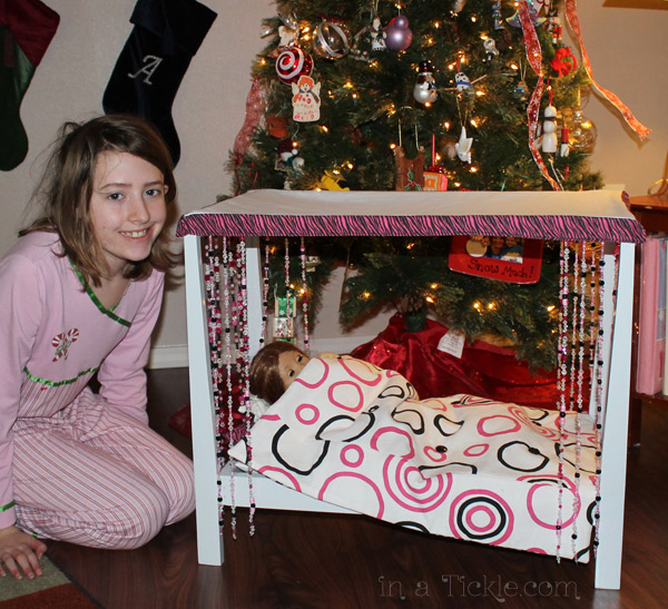 Christmas Doll Bed