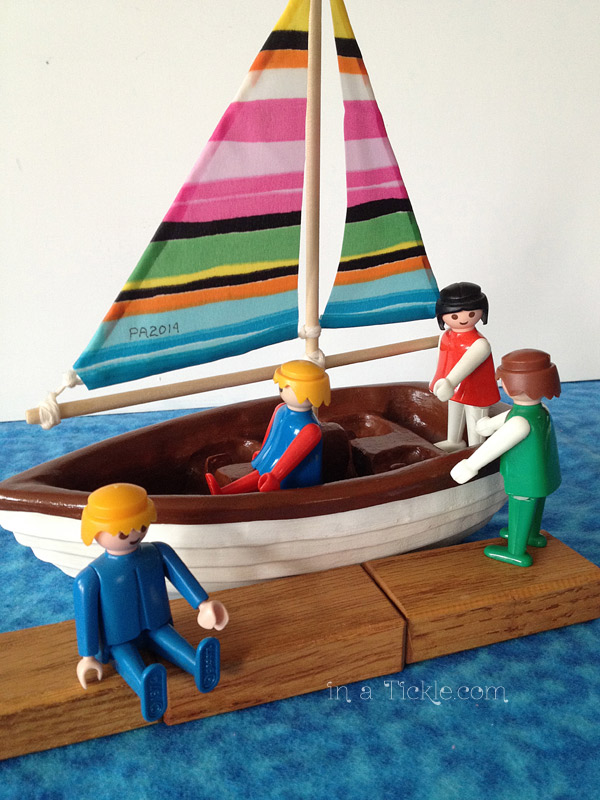 Little People Wood Sailboat