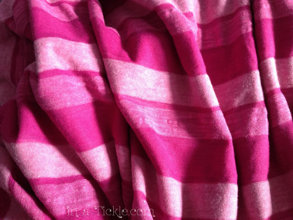 Pink Striped T-shirt fabric