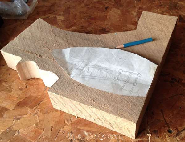 Wood blank for carving boat