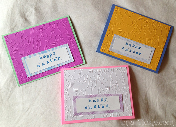 Embossed Easter Cards
