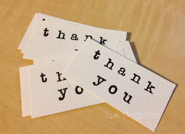 Thank You Stamped Cards